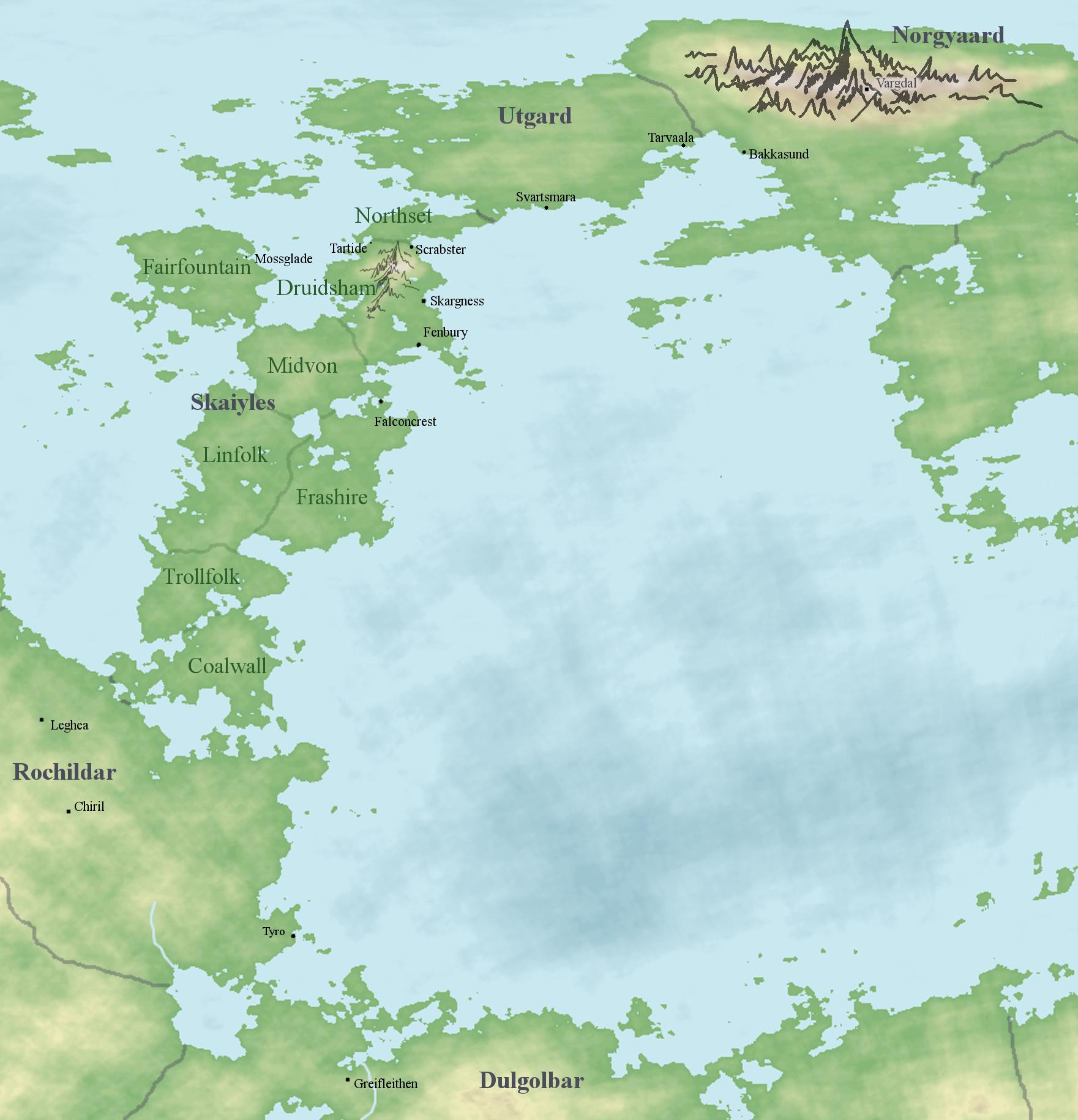 Karte von Skaiyles